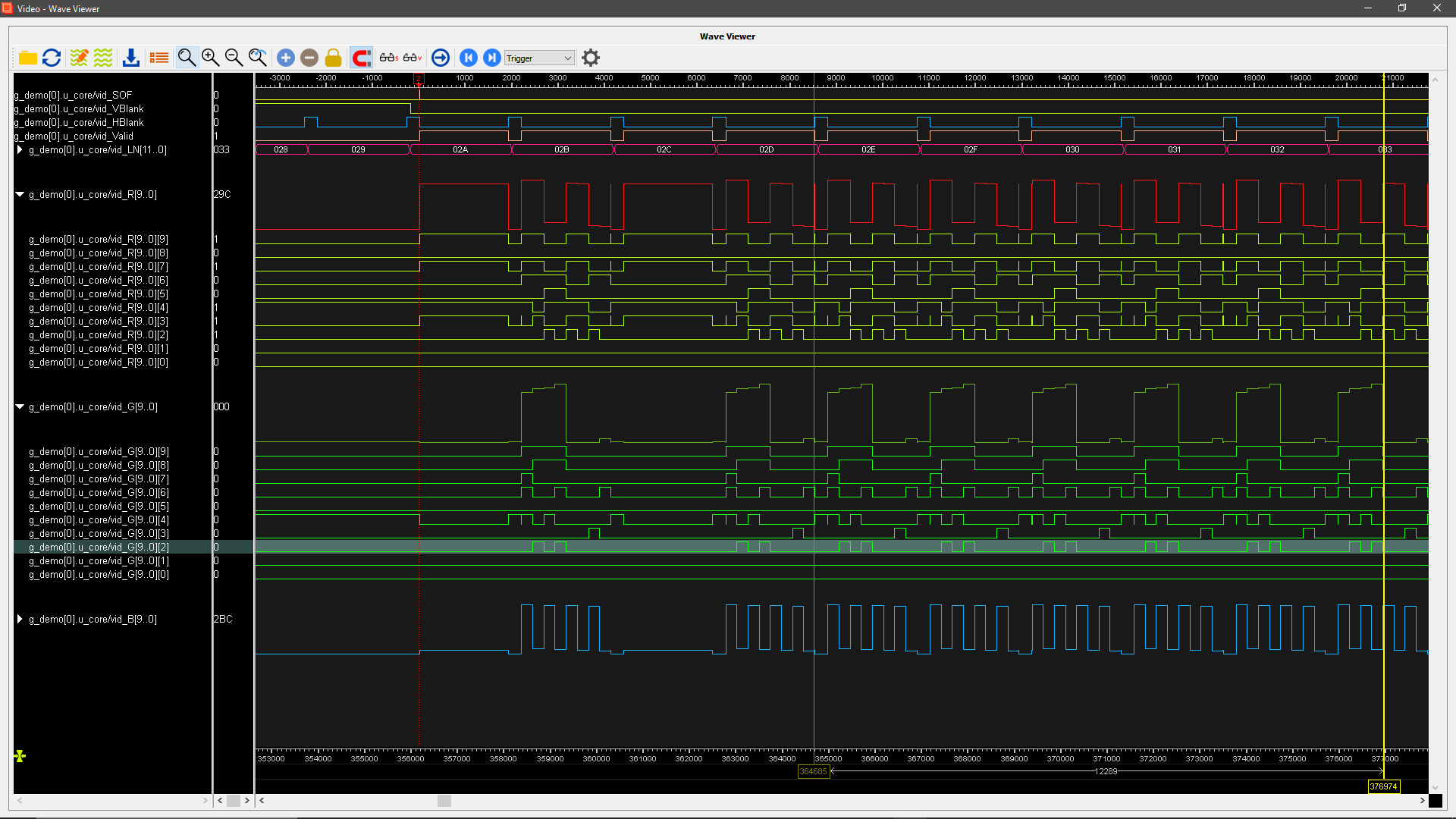 Myriad Waveform viewer main screen.
