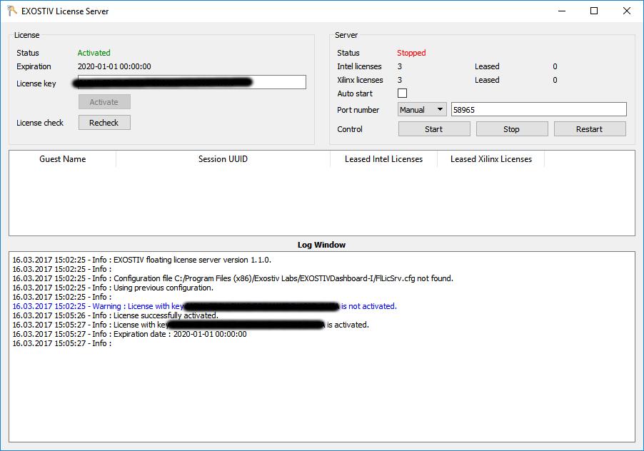 How do I install the license server for floating licenses