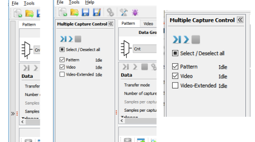Multiple capture unit control pane